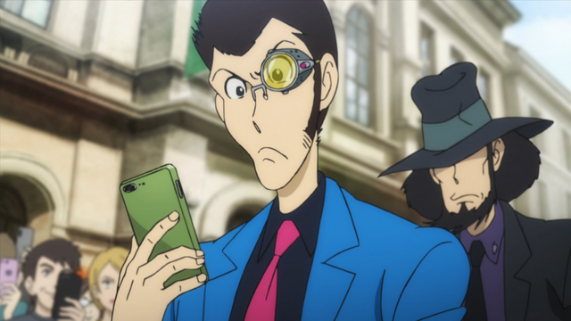 Lupin the 3rd and Jigen checking out PeopleLog