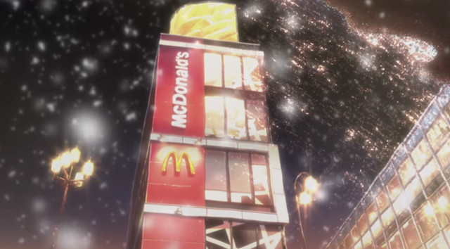 McDonald's Japan Winter Anime CM