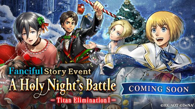 Shingeki no Kyojin celebra la navidad con un evento especial en Attack on Titan TACTICS
