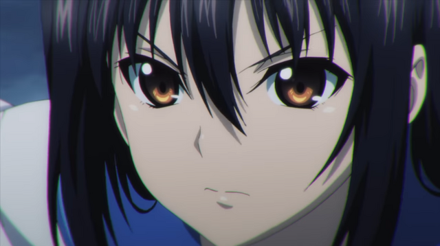 A close-up of heroine Yukina Himeragi from the upcoming OAV series Strike the Blood IV.