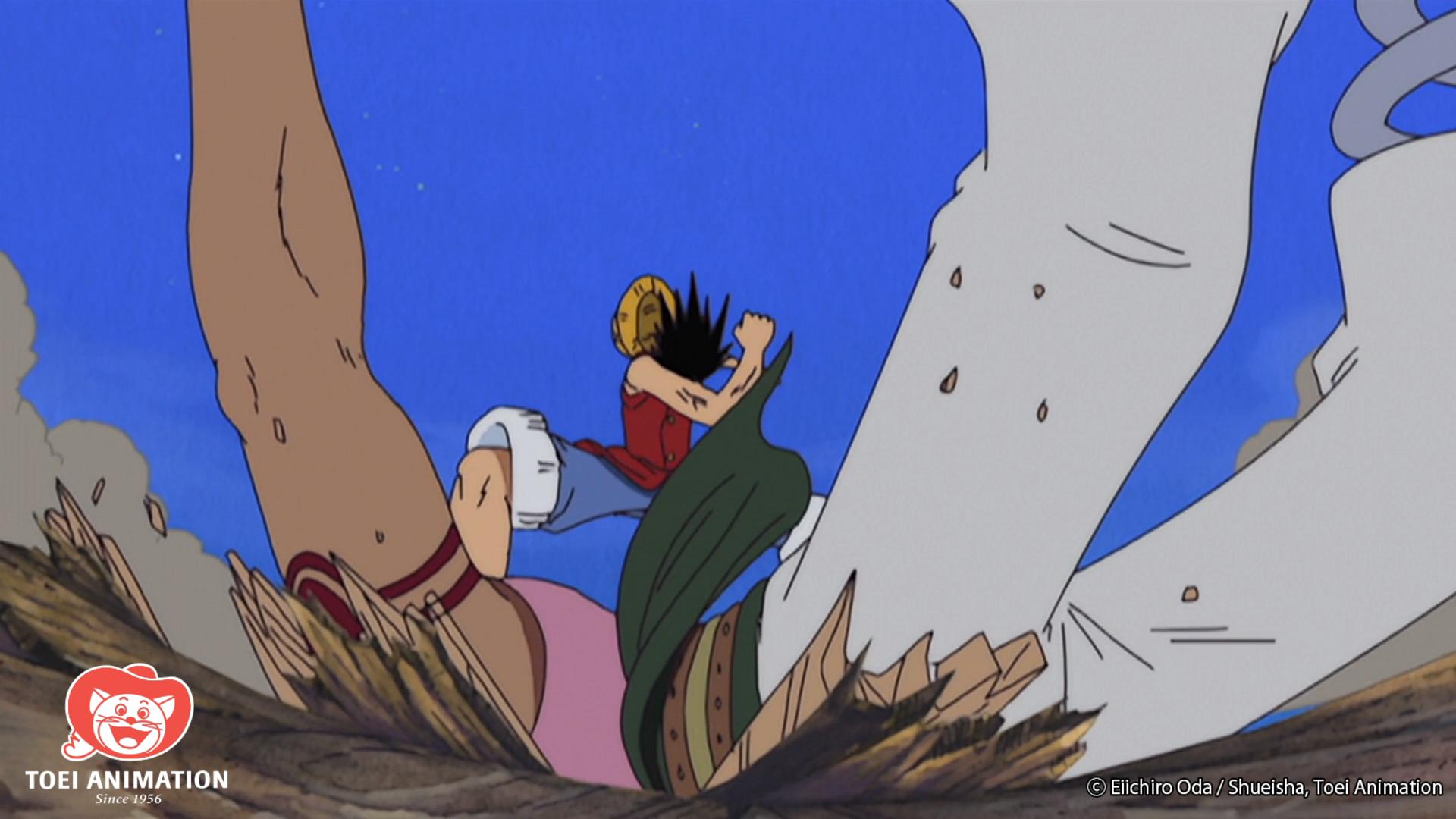 One Piece, Luffy golpea a Bellamy