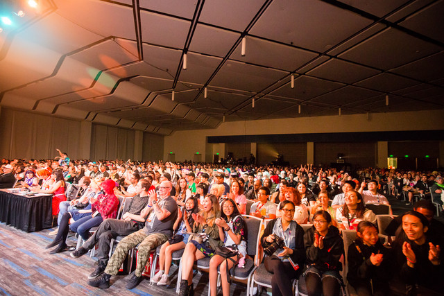 The audience at Crunchyroll Expo Masquerade 2019