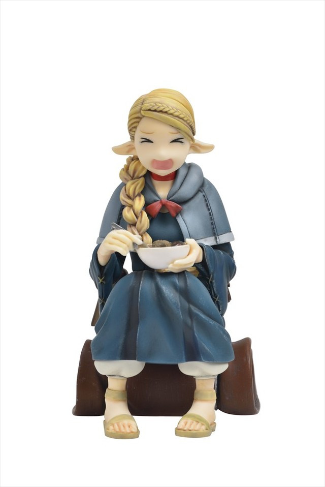 With alternate face parts, the Marcille resin kit depicts the elven mage as visibly upset with her meal.