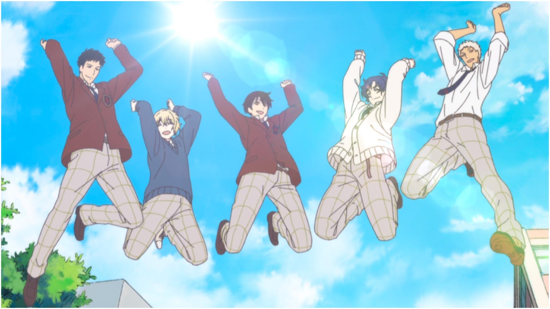 SANRIO BOYS todos los niños saltando