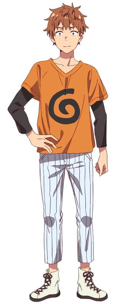 A character visual of Kazuya Kinoshita, the protagonist of the upcoming Rent-A-Girlfriend TV anime.