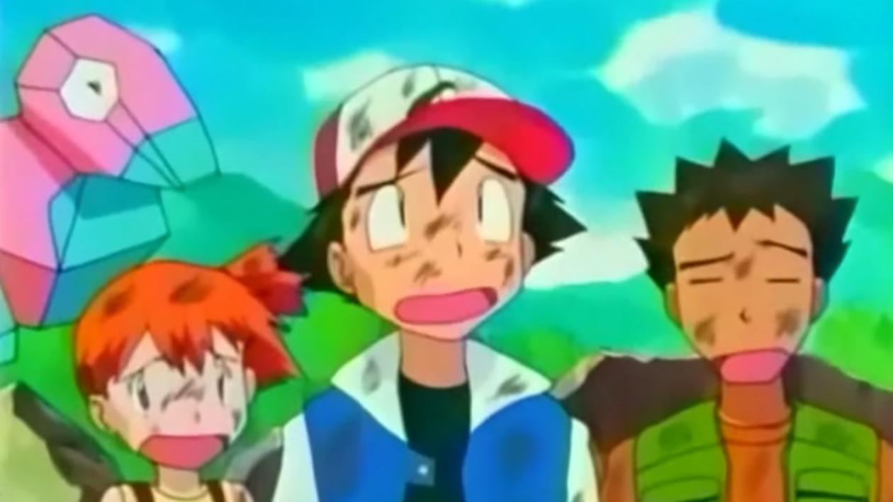 Ash and the gang with Porygon