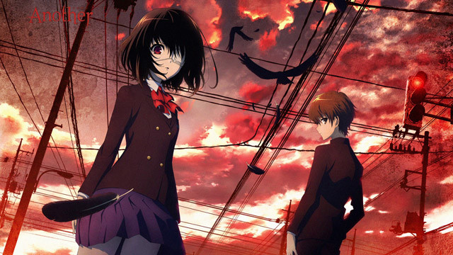 A promotional image for the 2012 TV anime adaptation of Another, based on the horror novel by Yukito Ayatsuji.
