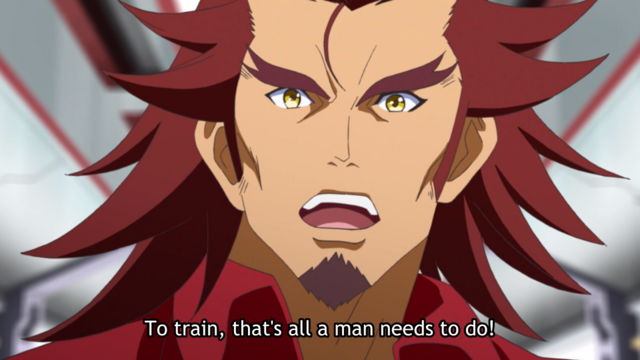 """To train, that's all a man needs to do!"""