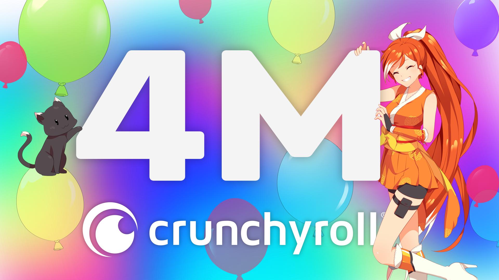 Crunchyroll Reaches Four Million Subscribers