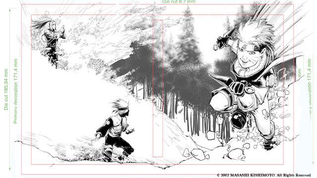 Whilce Portacio's Naruto Cover Work-In-Progress