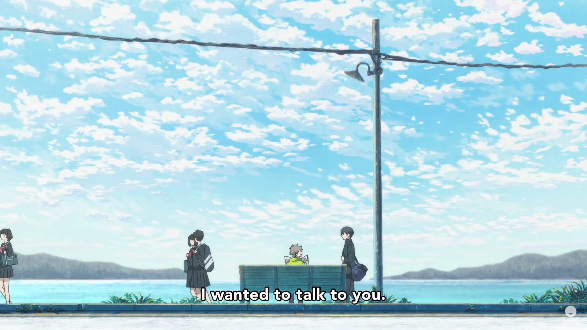 Shun and Mio interact in The Stranger by the Shore