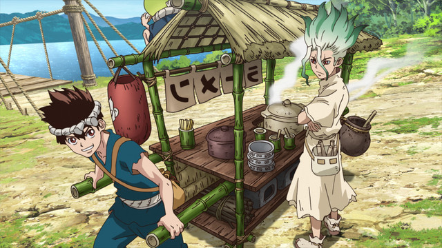Senku and Chrome's Ramen Cart