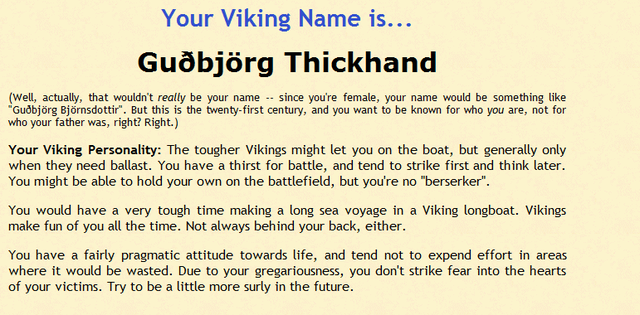 Crunchyroll - Forum - What is your Viking name? - Page 3