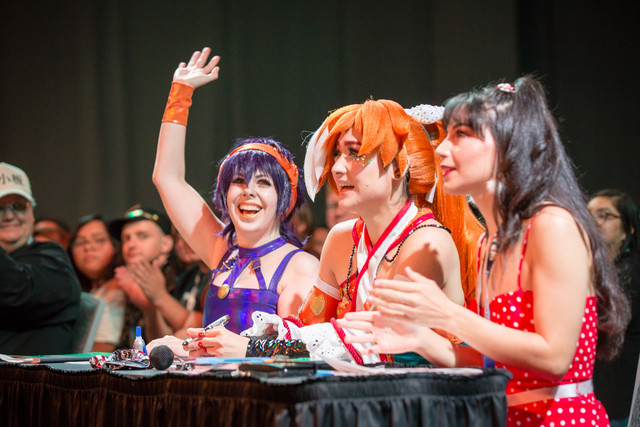 The judge's table at the Crunchyroll Expo Masquerade 2019