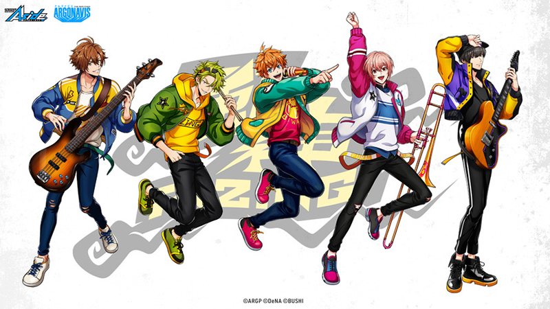 The five-member group Fujin RIZING! from Argonavis