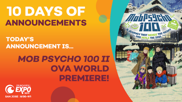 mob psycho 100 II OVA world premiere