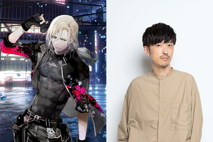 A character visual of Takuya Kuroki (and his voice actor, Takahiro Sakurai) from the upcoming NIGHT HEAD 2041 TV anime.