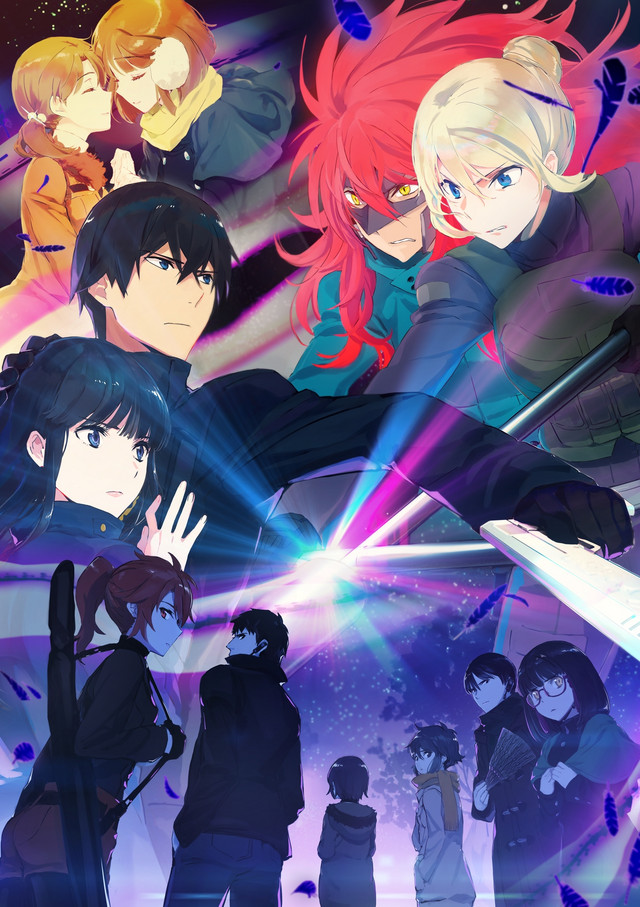 A key visual for the second season of The Irregular at Magic High School TV anime, featuring a collage of the main characters from the series.