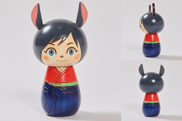 A promotional image depicting the Natsuki kokeshi dolls sold at the Summer Wars pop-up store.
