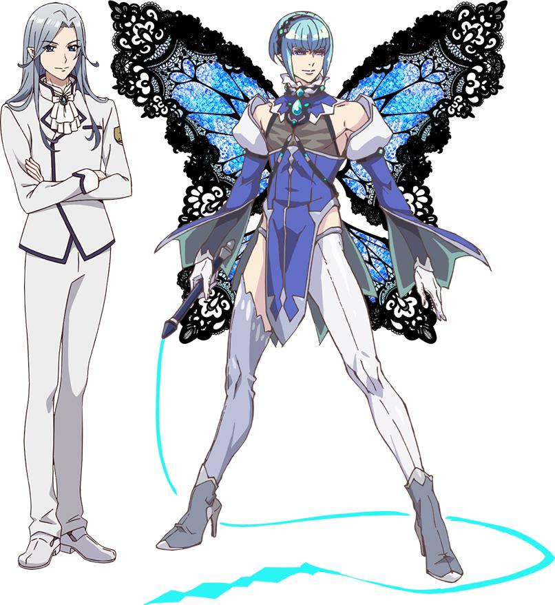 """Un escenario de personajes de Uruu Seiren y su fantasía. """"Yosei"""" forma del próximo anime de televisión Fairy Ranmaru ~ Anata no Kokoro Otasuke Shimasu ~."""