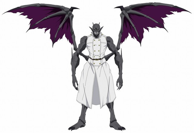 In Gargoyle form, Christopher has a gray skin, talons, and leathery wings protruding from his torso.