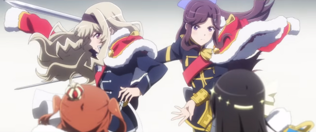 The girls of the Revue Starlight TV anime battle on stage to determine who is the greatest performer.