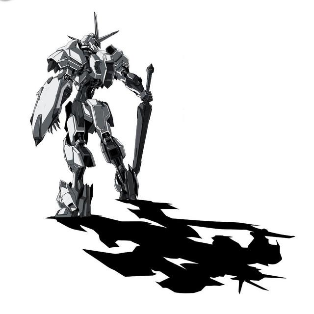 Le visuel accompagnant le tweet, montrant un Gundam blanc inconnu de dos.