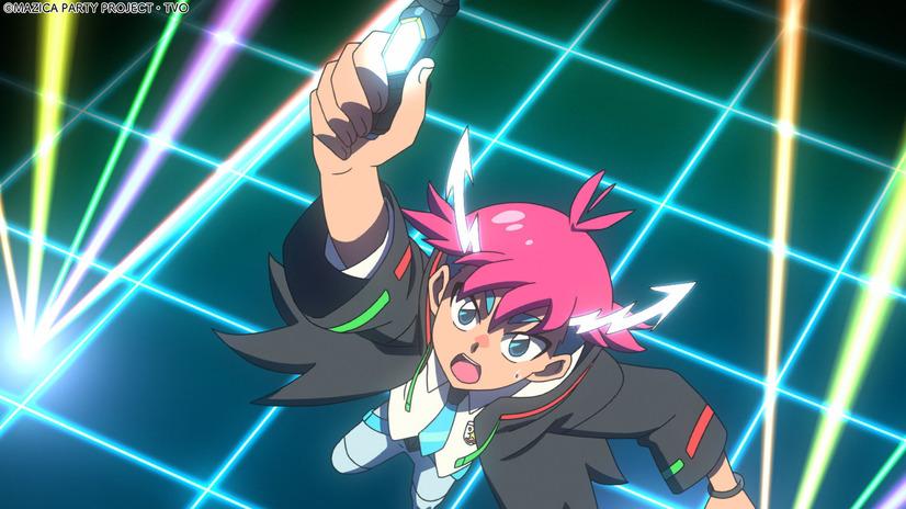 Kezuru invoca el poder de un cristal mágico en una escena del próximo anime televisivo MAZICA PARTY.