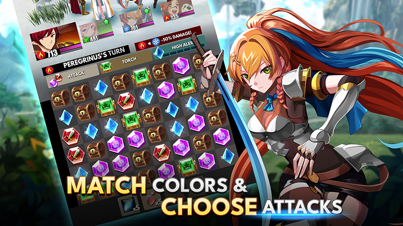 Match Colors & Choose Attacks