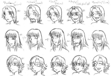 For tips on how to draw other emotions too please study the pictures below or read some of the tips from http www burkar nu bild manga ansikten pdf