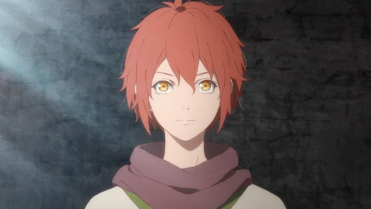 Will sonríe suavemente mientras se prepara para embarcarse en un viaje en una escena del próximo anime televisivo The Faraway Paladin.