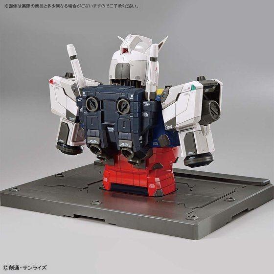 Gundam RX-78F00 Bust - 3/4 view, back