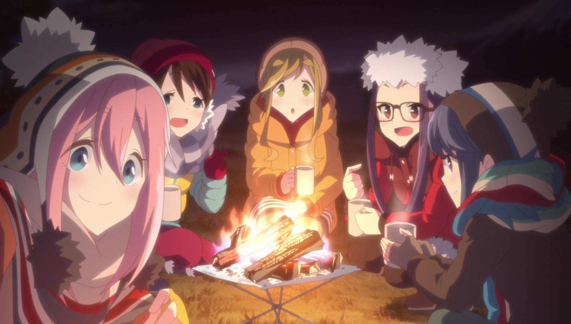 Las chicas del campamento relajado