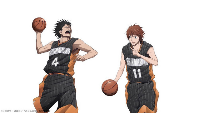 Shinichi Chiba and Tokitaka Tokiwa, a pair of players for the Shinmaruko High School basketball club.