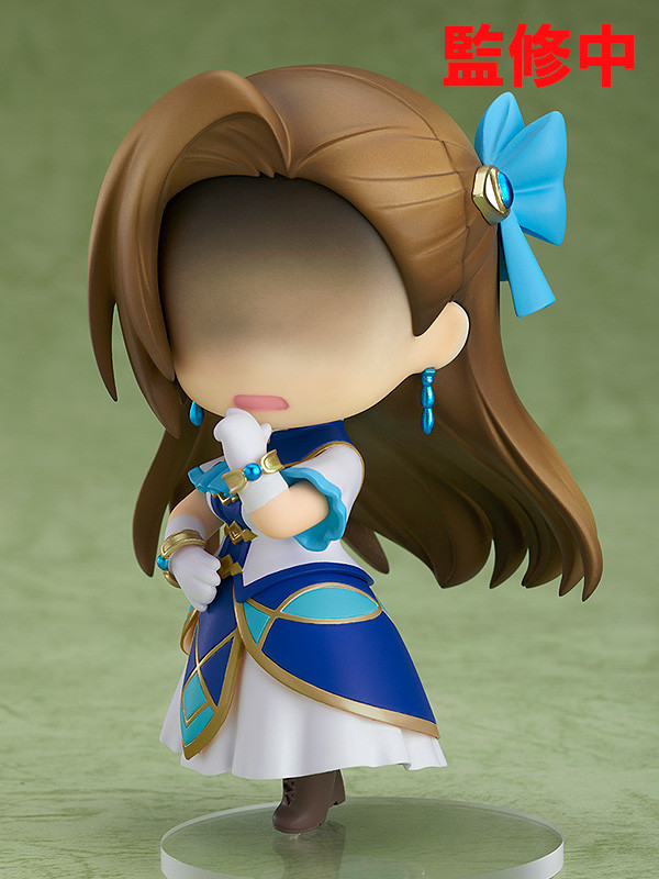 A promotional image of the Nendoroid Catarina Claes toy from Good Smile Company, emphasizing the contemplative face of the heroine of My Next Life as a Villainess: All Routes Lead to Doom!.