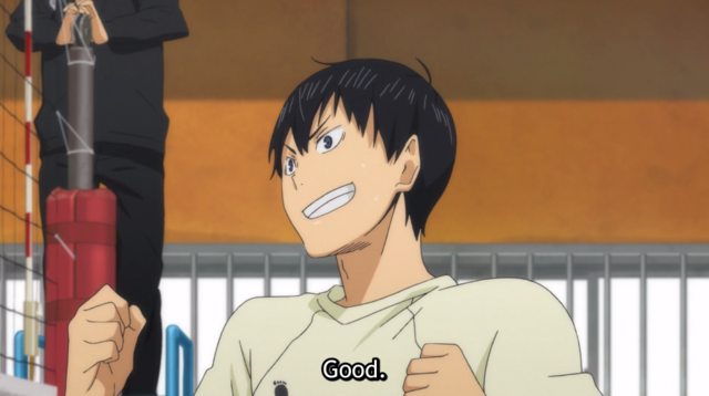 Kageyama after a solid serve.