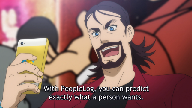 Enzo introducing PeopleLog in Lupin the 3rd Part 5