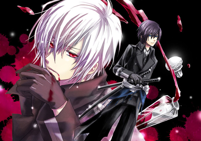 Name Tsukino SHijima Vampire Or Human Girl Boy Age 17human Years Pic The White Hair Is Vamp Form And Other