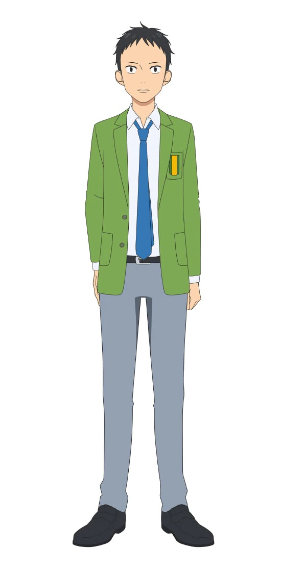 Un escenario de personajes de Tetsuji Yamada, un miembro del club de fútbol de chicos del próximo anime de televisión Farewell, My Dear Cramer.